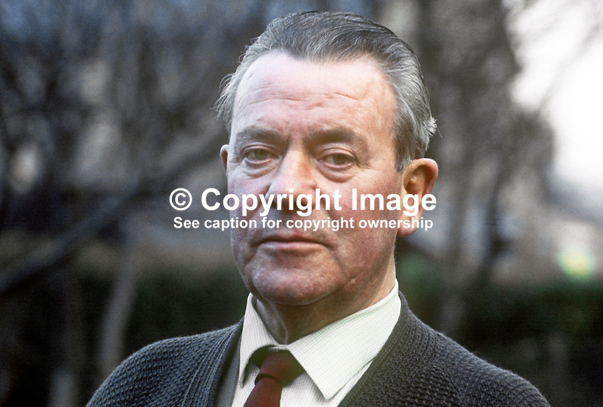 James Morrow, Amalgamated Union of Engineering and Foundry Workers, N Ireland, president, Irish Congress of Trade Unions, 1969-1970. 197001010022JM1<br />