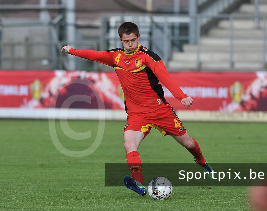 Scotland U19 - Belgium U19 : Corentin Fiore.foto DAVID CATRY / Nikonpro.be