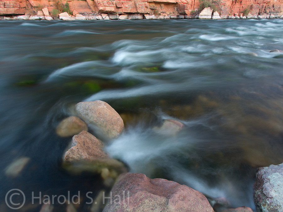The Colorado River at Lee's Ferry near the Navajo Bridge in Arizona.