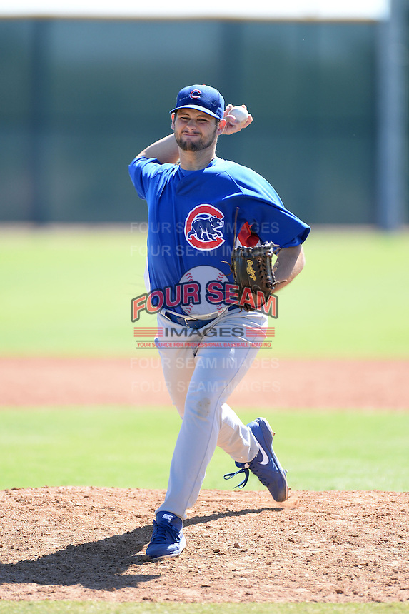 Chicago Cubs pitcher Trevor Graham (65) during an Instructional League game against the Arizona Diamondbacks on October 5, 2013 at Salt River Fields at Talking Stick in Scottsdale, Arizona.  (Mike Janes/Four Seam Images)