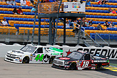 #44: Ross Chastain, Niece Motorsports, Chevrolet Silverado TruNorth/Paul Jr. Designs and #18: Harrison Burton, Kyle Busch Motorsports, Toyota Tundra Morton Buildings