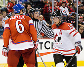 Martin Paryzek (Czech Republic - 6), Cody Hodgson (Canada - 18) - Team Canada defeated the Czech Republic 8-1 on the evening of Friday, December 26, 2008, at Scotiabank Place in Kanata (Ottawa), Ontario during the 2009 World Juniors U20 Championship.