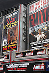 Theatre Marquee unveiling for the revival of the musical ?Annie? at Broadway's Palace Theatre. Sharing Advertising Real Estate is also 'War Horse' & 'Evita'  in Times Square on August 26, 2012 in New York City.