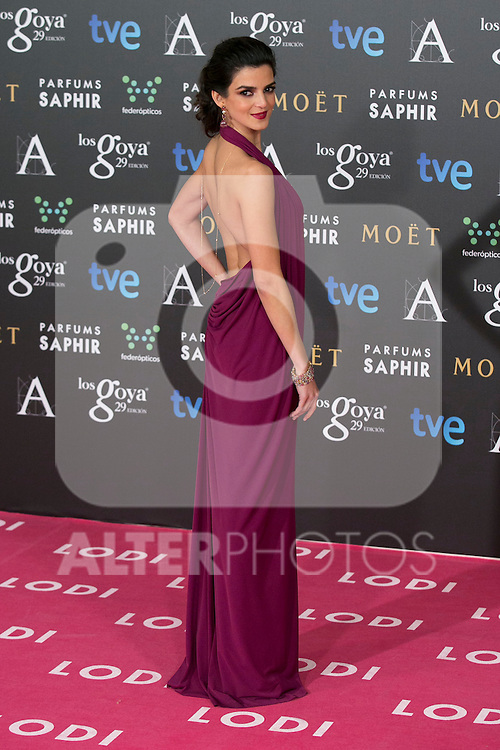 Clara Lago attend the 2015 Goya Awards at Auditorium Hotel, Madrid,  Spain. February 07, 2015.(ALTERPHOTOS/)Carlos Dafonte)
