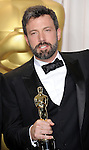 Ben Affleck in the press room at the 85th Academy Awards, held at the Dolby Theater in Los Angeles, CA. February 24, 2013
