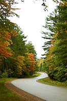 The start of the fall season on H-13 near Munising, MI.