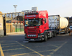 HGV lorry vehicle leaving Guinness Brewery, St. James' Gate, Dublin, Ireland,
