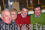 Members of Listowel pith and putt enjoying their christmas party in Fitzgerald's restaurant on Friday night were Toddy and Noreen Buckley, John Brosnan and Brendan Kenny. .