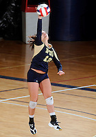 Florida International University women's volleyball player Chanel Araujo (13) plays against the University of South Alabama.  FIU won the match 3-0 on October 30, 2011 at Miami, Florida. .