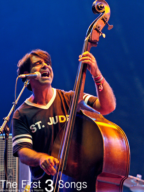 Bob Crawford of the Avett Brothers performs during The Voodoo Experience at City Park in New Orleans, Louisiana.