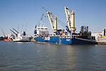 Shipping port activity, Port of Rotterdam, Netherlands