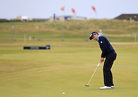 Paul Dunne (IRL) on the 16th green during Round 4 of the 2015 Alfred Dunhill Links Championship at the Old Course in St. Andrews in Scotland on 4/10/15.<br /> Picture: Thos Caffrey | Golffile