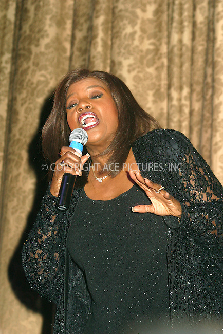 Singer Gloria Gaynor performs at the Benefit for Bali victims of recent terrorist bombing. The benefit is hosted by Australian Consulate in New York. November 19. 2002. Please byline: Alecsey Boldeskul/NY Photo Press.   ..*PAY-PER-USE*      ....NY Photo Press:  ..phone (646) 267-6913;   ..e-mail: info@nyphotopress.com