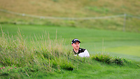Nathan Kimsey (ENG) in a bunker on the 5th fairway during Round 1 of the D+D Real Czech Masters at the Albatross Golf Resort, Prague, Czech Rep. 31/08/2017<br /> Picture: Golffile | Thos Caffrey<br /> <br /> <br /> All photo usage must carry mandatory copyright credit     (&copy; Golffile | Thos Caffrey)