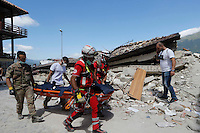 Earthquake i9n Amatrice central Italy