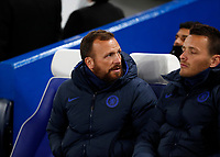 25th February 2020; Stamford Bridge, London, England; UEFA Champions League Football, Chelsea versus Bayern Munich; Chelsea Assistant Manager Jody Morris looks on from the dugout