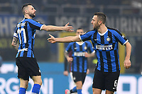 9th February 2020, Milan, Italy; Serie A football, AC Milan versus Inter-Milan;  Marcelo Brozovic of Inter Milan celebrates his goal in the 51st minute for 1-2