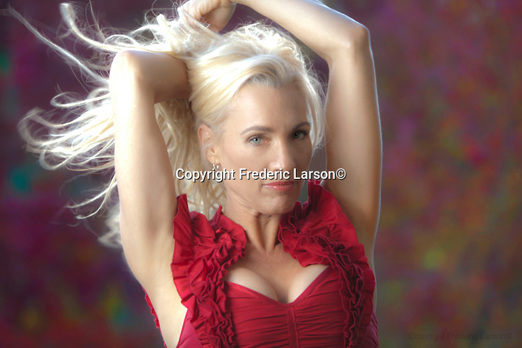 Zoe Sexton  poses for a portrait for photographer Frederic Larson in Mill Valley, CA...Fashion Producer Claudia Knaack .