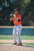 Baltimore Orioles pitcher Ruben Garcia (75) gets ready to deliver a pitch during a minor league Spring Training game against the Tampa Bay Rays on March 29, 2017 at the Buck O'Neil Baseball Complex in Sarasota, Florida.  (Mike Janes/Four Seam Images)