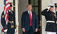 United States President Donald J. Trump welcomes Japanese Prime Minister Shinzo Abe to the White House in Washington, DC, June 7, 2018. <br /> CAP/MPI/RS<br /> &copy;RS/MPI/Capital Pictures