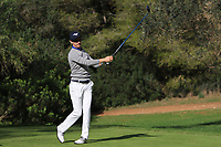 Daan Huizing (NED) on the 5th tee during Round 3 of the Challenge Tour Grand Final 2019 at Club de Golf Alcanada, Port d'Alcúdia, Mallorca, Spain on Saturday 9th November 2019.<br /> Picture:  Thos Caffrey / Golffile<br /> <br /> All photo usage must carry mandatory copyright credit (© Golffile | Thos Caffrey)