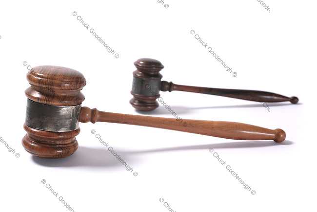 Photo of One Big and One Small Gavel together.