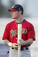 Josh Hamilton of the Bakersfield Blaze before a California League 2002 season game against the San Bernardino Stampede at San Manuel Stadium, in San Bernardino, California. (Larry Goren/Four Seam Images)