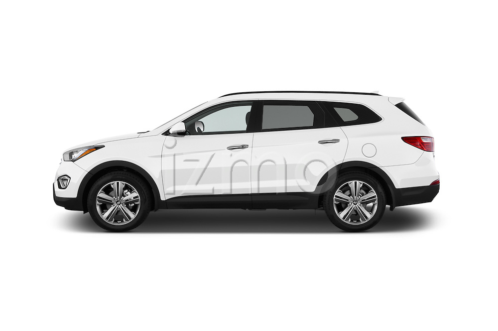Car Driver side profile view of a 2014 Hyundai Santa Fe GLS 5 Door SUV Side View