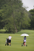 nwasptsouzaajgalewis20200701<br /> <br /> Participants tee off on the first hole during the first round of the AJGA Stacy Lewis Junior All-Star Invitational at the Blessings Golf Club in Johnson.
