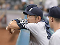 Ichiro Suzuki (Yankees),<br /> APRIL 1, 2014 - MLB :<br /> Ichiro Suzuki of the New York Yankees watches from the dugout during the baseball game against the Houston Astros at Minute Maid Park in Houston, Texas, United States. (Photo by AFLO)