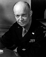 General Dwight D. Eisenhower, Supreme Allied Commander, at his headquarters in the European theather of operations.  He wears the five-star cluster of the newly-created rank of General of the Army.  February 1, 1945.  T4c. Messerlin. (Army)<br /> NARA FILE #:  080-G-331330<br /> WAR & CONFLICT BOOK #:  745