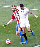 Atletico de Madrid's Juanfran Torres (l) and Sevilla FC's Vitolo during La Liga match. March 19,2017. (ALTERPHOTOS/Acero)