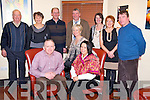 Mairead Ni Dhubhghaill Bric, Gneeveguilla pictured with Joe Brick, Sheila O'Leary, Paddy Doyle, Maria Doyle, Denis O'Leary, Mike Doyle, Valerie Doyle, Helen and Pat Doyle as she celebrated her 40th birthday in Lord Kenmares restaurant, Killarney on Saturday night.