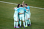 FC Barcelona's players celebrated goal during Spanish Kings Cup semifinal 1st leg match. February 01,2017. (ALTERPHOTOS/Acero)