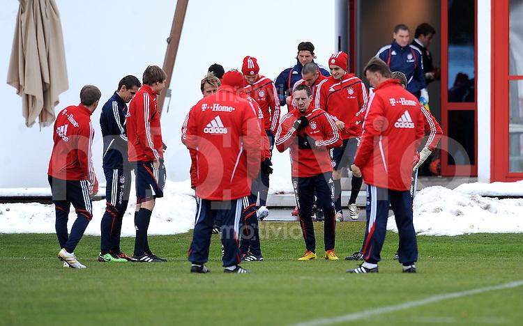 Fussball 1. Bundesliga :  Saison   2009/2010   03.02.2010 Training beim FC Bayern Muenchen Franck Ribery (FCB)