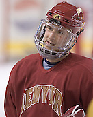 Ryan Helgason - Reigning national champions (2004 and 2005) University of Denver Pioneers practice on Friday morning, December 30, 2005 before hosting the Denver Cup at Magness Arena in Denver, CO.