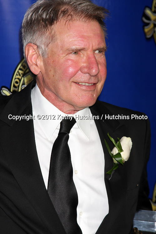 LOS ANGELES - FEB 12:  Harrison Ford at the Press Area of the 2012 American Society of Cinematographers Awards at the Grand Ballroom, Hollywood & Highland on February 12, 2012 in Los Angeles, CA