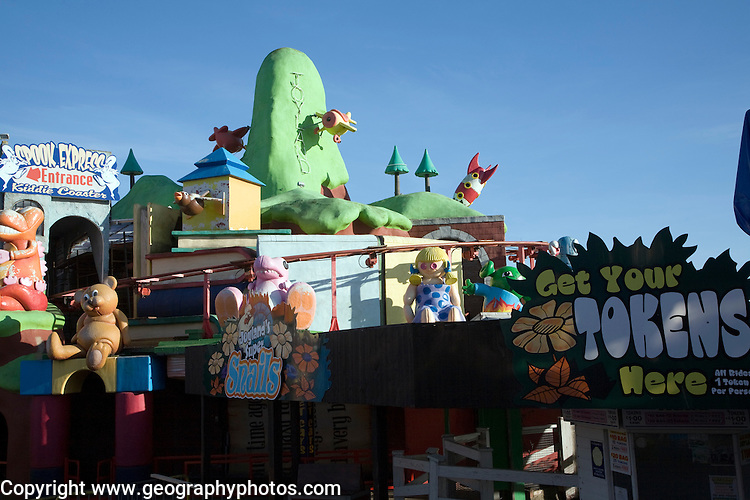 Toyland children's seaside attraction, Great Yarmouth, Norfolk, England