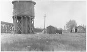 D&amp;RGW Alamosa water tank.<br /> D&amp;RGW  Alamosa, CO  Taken by Rogers, Donald E. A. - 5/23/1939