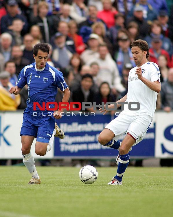 RLN 2006/2007 - 33.Spieltag R&uuml;ckrunde <br /> <br /> Kickers Emden - 1. FC Magdeburg<br /> <br /> Andy N&auml;gelein (Kickers) - Danny Kukulies (r.)<br /> <br /> <br /> <br /> Foto &copy; nordphoto *** Local Caption *** Foto ist honorarpflichtig! zzgl. gesetzl. MwSt.<br /> <br /> <br /> <br /> Belegexemplar erforderlich