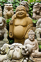 Asian buddha garden statues.