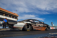 Feb 3, 2015; Chandler, AZ, USA; NHRA pro stock driver Jonathan Gray during testing at Wild Horse Motorsports Park. Mandatory Credit: Mark J. Rebilas-USA TODAY Sports