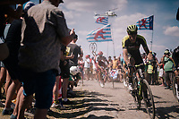 Mathew Hayman (AUS/Mitchelton-Scott) on pav&eacute; sector #4<br /> <br /> Stage 9: Arras Citadelle &gt; Roubaix (154km)<br /> <br /> 105th Tour de France 2018<br /> &copy;kramon