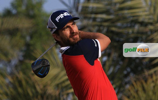 Alejandro Canizares (ESP) on the 2nd tee during Round 4 of the Abu Dhabi HSBC Championship on Sunday 22nd January 2017.<br /> Picture:  Thos Caffrey / Golffile<br /> <br /> All photo usage must carry mandatory copyright credit     (&copy; Golffile | Thos Caffrey)