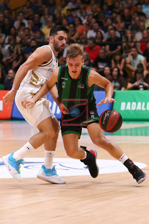 Liga ENDESA 2019/2020. Game: 01.<br /> Club Joventut Badalona vs Real Madrid: 69-88.<br /> Facundo Campazzo vs Arturs Zagars.