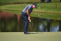 Phil Mickelson (USA) sinks his putt on 9 during round 3 of the WGC FedEx St. Jude Invitational, TPC Southwind, Memphis, Tennessee, USA. 7/27/2019.<br /> Picture Ken Murray / Golffile.ie<br /> <br /> All photo usage must carry mandatory copyright credit (© Golffile | Ken Murray)