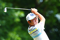 Hideto Tanihara on the 2nd tee during the BMW PGA Golf Championship at Wentworth Golf Course, Wentworth Drive, Virginia Water, England on 28 May 2017. Photo by Steve McCarthy/PRiME Media Images.