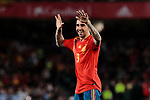 Spain's Paco Alcacer celebrates goal during UEFA Nations League 2019 match between Spain and England at Benito Villamarin stadium in Sevilla, Spain. October 15, 2018. (ALTERPHOTOS/A. Perez Meca)