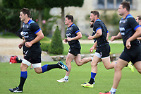 Freddie Burns of Bath Rugby sprints. Bath Rugby pre-season training session on July 28, 2017 at Farleigh House in Bath, England. Photo by: Patrick Khachfe / Onside Images
