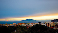 Sunrise on Mount Vesuvius